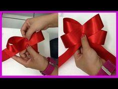 Tiara com laço de fitas de organza e cetim Passo a Passo - YouTube