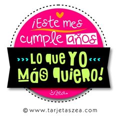 Un mes especial-Tarjeta de cumpleaños-lettering © ZEA www.tarjetaszea.com Birthday Wishes, Happy Birthday, Happy B Day, Love Pictures, My Images, Greeting Cards, Lettering, Sayings, Quotes