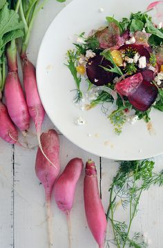 Beet, Orange & Radish Salad via FIG AND FAUNA