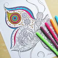 Click here for this beautiful Butterfly Coloring Page.