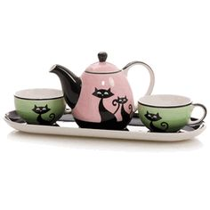 Cats with Attitude Tea set
