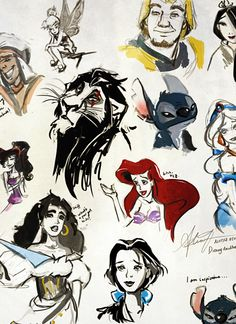 thedisneyprincess:    Disney Doodles by alicexz
