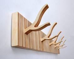 Modern Coat Rack 5-Peg TWIGGY 'Straight and Narrow'. via Etsy.