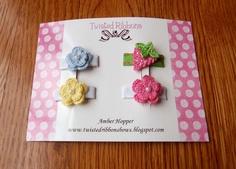 crochet little bows for babies - Buscar con Google Crochet Hair Clips, Crochet Hair Styles, Crochet Bebe, Little Bow, Baby Bows, Crochet Flowers, Hair Accessories, Babies, Google