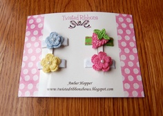 crochet little bows for babies - Buscar con Google