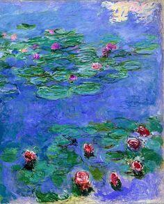 Клод Моне - Water Lilies Red, 1914-19. Клод Оскар Моне