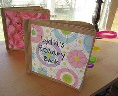 Catholic Craft for Kids- Make a Rosary Book!