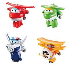 Super Wings - Transform-A-Bots 4 Pack- Jett, Mira, Paul