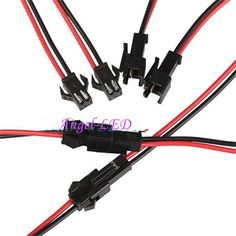 49.59$  Watch now - http://aliory.worldwells.pw/go.php?t=32684713063 - wholesale 500pairs 2 pin Male/female JST SM 2Pin Plug Connector  2pin Wire cable pigtail for single led strip light Lamp Driver