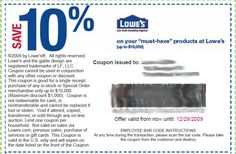 Lowe's Discount Coupon - http://www.lowescouponn.com/lowes-discount-coupon/