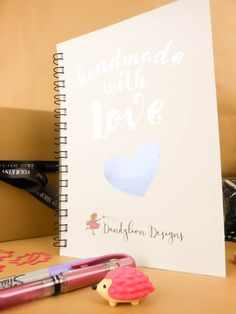 Order book Handmade with love A5 notebook by craftschmooze on Etsy