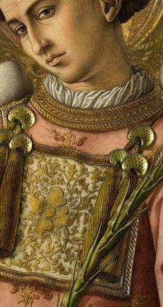 Carlo Crivelli - Saint Stephen, detail 15th century Renaissance