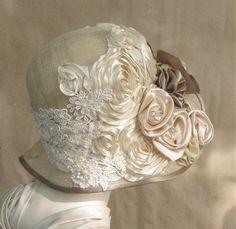 1920's Headpiece,Flapper Headband,Gatsby,Silver,Crystal,Vintage,EV Studio #48