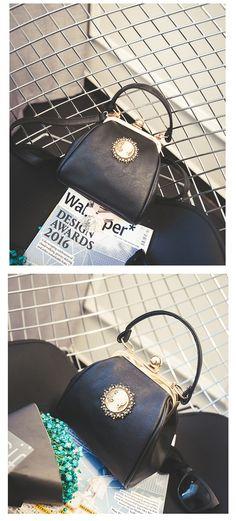 ¥47.90 = SGD9.65  2016夏季新款韩版时尚复古女包夹扣小包包休闲手提单肩包斜挎包潮-淘宝网
