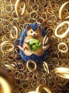 Sonic the hedgehog by Giselle Almeida