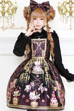 【ご予約商品12/20入荷予定】Magical Little Circusジャンパースカート(ボルドー) - Royal Princess Alice Official Online Shop