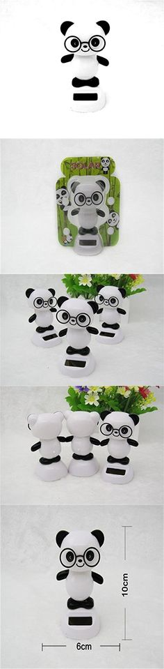 Multi-Set Solar Power Toy Dancing Cute Figurine Bobble Head for Home and Car Decor Gift White Panda