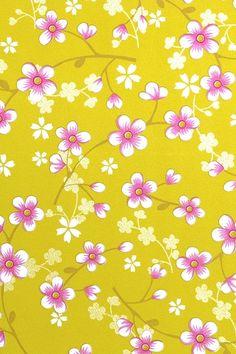 PiP Studio Cherry Blossom Yellow Wallpaper