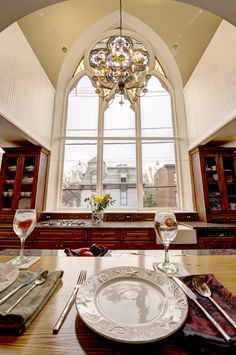 1887 converted church is now contemporary condo with magnificent original art glass window the centerpiece of   Home