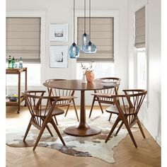 Room & Board - Sky Modern Glass Pendants, Group of Three or Five - Modern Dining and Kitchen Lighting - Modern Dining Room & Kitchen Furniture Dining Room Sets, Dining Room Chairs, Dining Room Furniture, Office Chairs, Dinning Nook, Side Chairs, Home Renovation, Pedestal Dining Table, Dining Tables