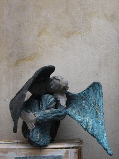 Angel  Paper mache sculpture