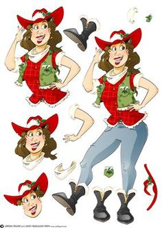 - Take yer Pardners! Time for the christmas ho ho ho down! Decoupage sheet version with loads of options to create your own de. Image 3d, Red Hat Ladies, 3d Sheets, Red Hat Society, 3d Cards, Cowboy And Cowgirl, Funny Clips, Red Hats, Diy For Kids