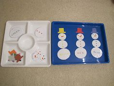 H is for Homeschooling: Winter Tot Trays (S is for Snow) and Books