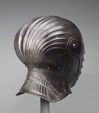 Close Helmet  Made in German-speaking lands, Europe  Possibly made in southern Germany, Germany, Europe  or Austria, Europe  c. 1510