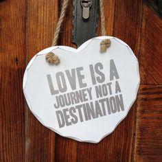 "Holzschild ""Love Journey"""