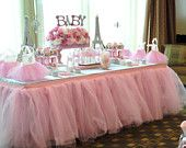 Tutu Table Skirt, Custom Made, Wedding, Birthday, Baby Shower