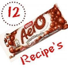 12 Awesome Recipes that Call for Aero Brand Chocolate Bars - Use up that # chocolate #Aero Bar