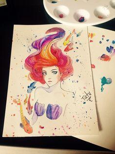 Ariel watercolor!