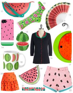 Scathingly Brilliant: whatta melon! Watermelon Cupcakes, Sweet Watermelon, Watermelon Birthday, Fruit Nail Art, Cute Fruit, Colorful Socks, Paper Dolls, Pretty In Pink, Screen Printing