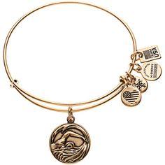 Team USA Alex and Ani Olympic Swimming Charm Bracelet - Gold - $32.00