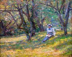 Theodore Robinson LANDSCAPE | Theodore Robinson - In the Orchard, 1895