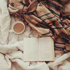 Coffee, my bible, and a cozy spot to read.