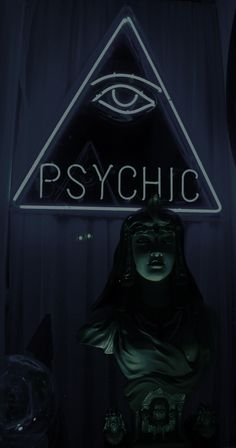 Psychic Indicators Psychism Is what lives beyond physical science, or knowledge, and represents the immaterial and irrational side of life. A psychic person usually signifies someone who is highly sensitive to supernatural forces and the paranormal. Wiccan, Magick, Witchcraft, Vaporwave, Tarot, Fortune Telling, Deco Design, Black Magic, Dieselpunk