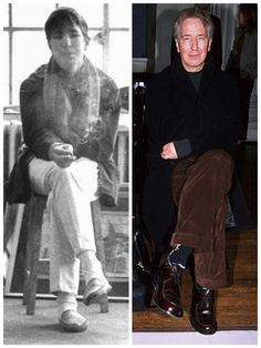Alan Rickman then (around 1964) and more recently, 2001