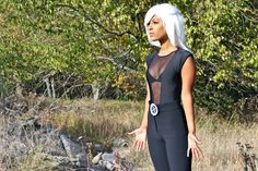I am #STORM from #XMEN  #Bodysuit - #AmericanApparel  #Riding #Pants - American Apparel  #Bra - American Apparel   #Fur #coat - #Urbanoutfitters  #Wig - #PartyCity   #Belt- #DIY - Index card, sharpie, tape, scissors, and safety pin ( photo instructions to be posted soon)  #halloween #costume - #trendyfrenzy