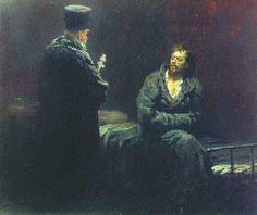 Refusing Confession (Ilya Repin, 1885)