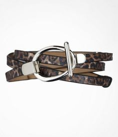 New Purchase: Leopard print Adjustable Skinny Belt from @Express Life love it :)