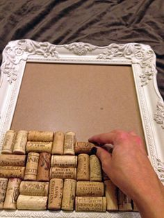 Dry wine corks jewelry/memo board