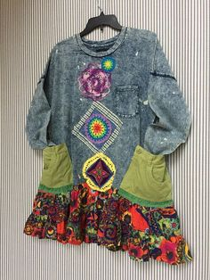 RESERVED Colorful Boho Hippie