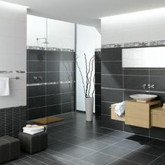 Vitra Elegant Antrasit Bathroom & Kitchen Wall Tiles | Gemini Tiles