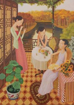 Shuai Mei (China, born 1969) ~ 'Jade Garden'
