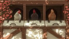 ✿Roli Cannoli CC Findz Corner✿ — aggressivekitty: AGGRESSIVEKITTY: FUNCTIONAL... Cottage Living, Country Living, Sims Building, Cannoli, Corner, Rustic, Chicken, Painting, Art