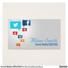 Photo qr code and social media icons business card business cards social mediasemseo business card flashek Choice Image
