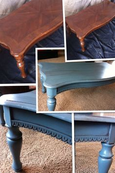 Coffee Table makeover by Third Degree Furniture. Painted, antiqued, glazed.
