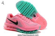 promo code 84ebe a8638 femmes nike air max 2014 rose noir bleu chaussures running chaussures  magasin Cheap Nike Air Max
