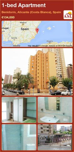 1-bed Apartment in Benidorm, Alicante (Costa Blanca), Spain ►€134,000 #PropertyForSaleInSpain